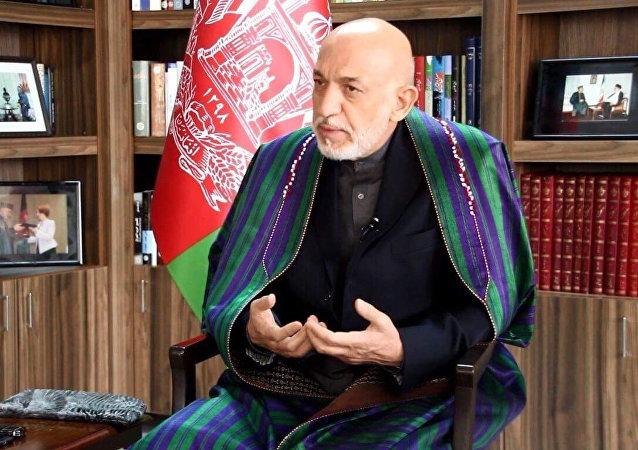 L'ancien Président afghan Hamid Karzaï