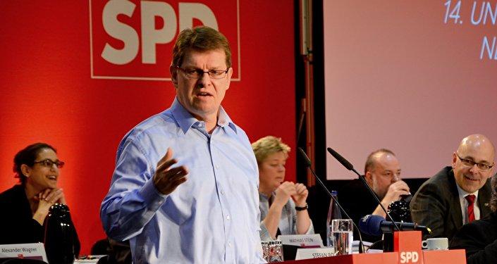 Un homme fonce sur le siège du SPD — Allemagne