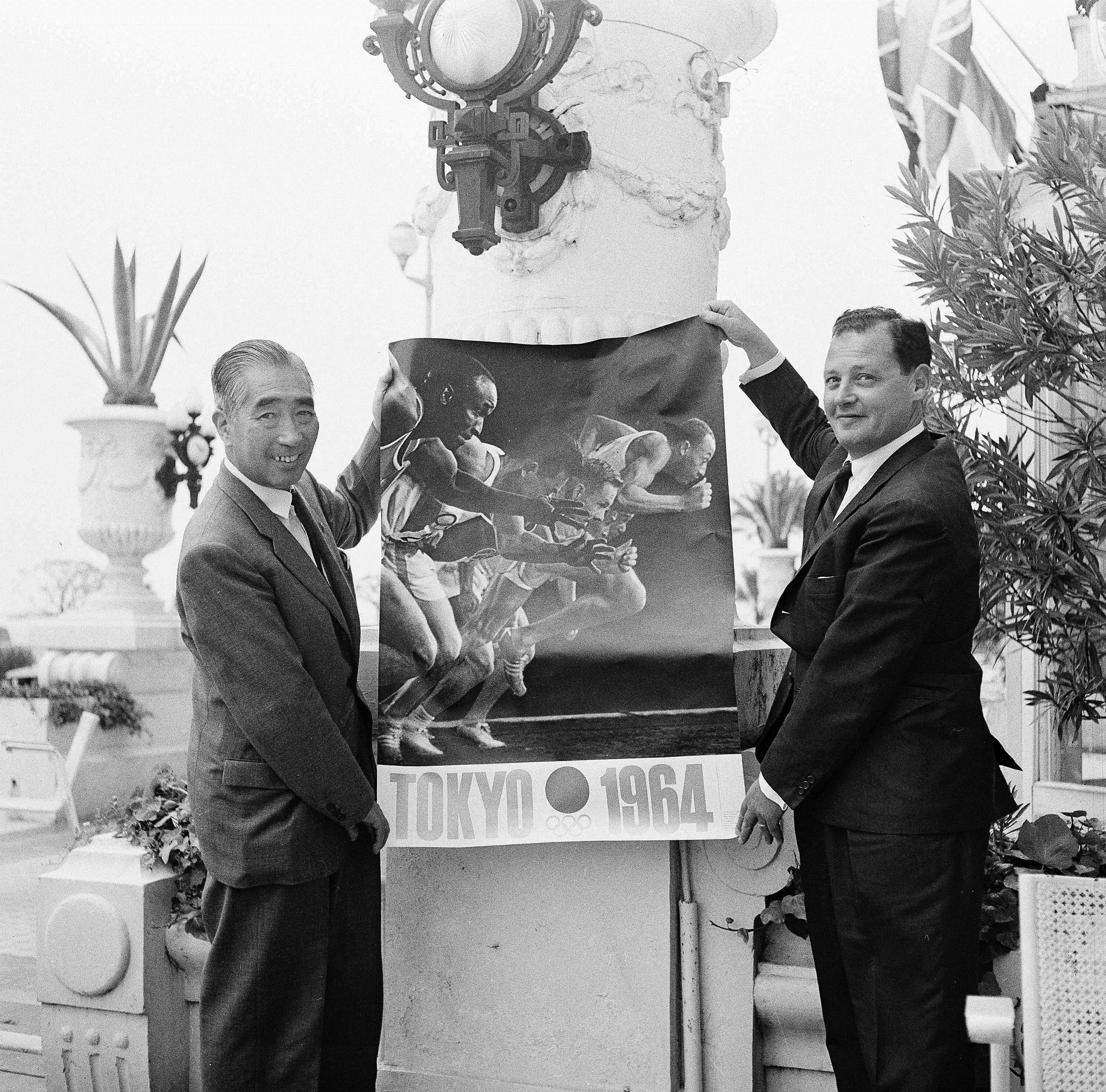 L'affiche officielle des JO 1964 de Tokyo
