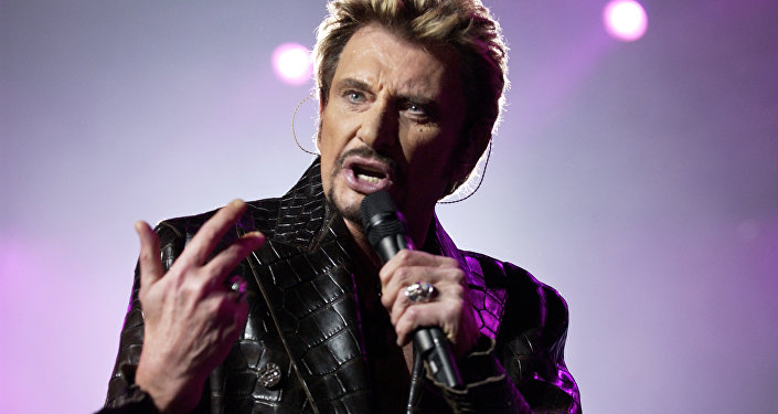 Le chanteur français Johnny Hallyday