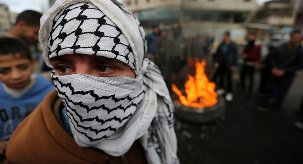 Protestataires palestiniens