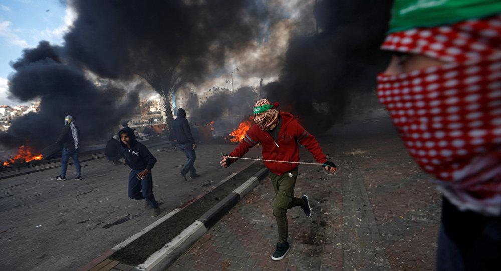 Protestations palestiniennes contre la décision de Donald Trump sur Jérusalem