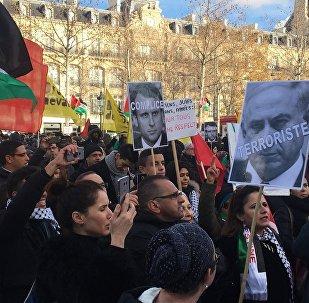 Manifestations à Paris sur fond de décision de Trump sur Jérusalem