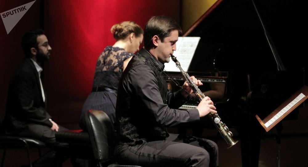 Performance des musiciens russes à Damas