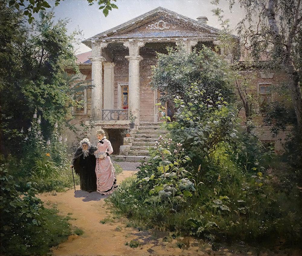 Vassili Polenov. Le jardin de grand-mère. 1878