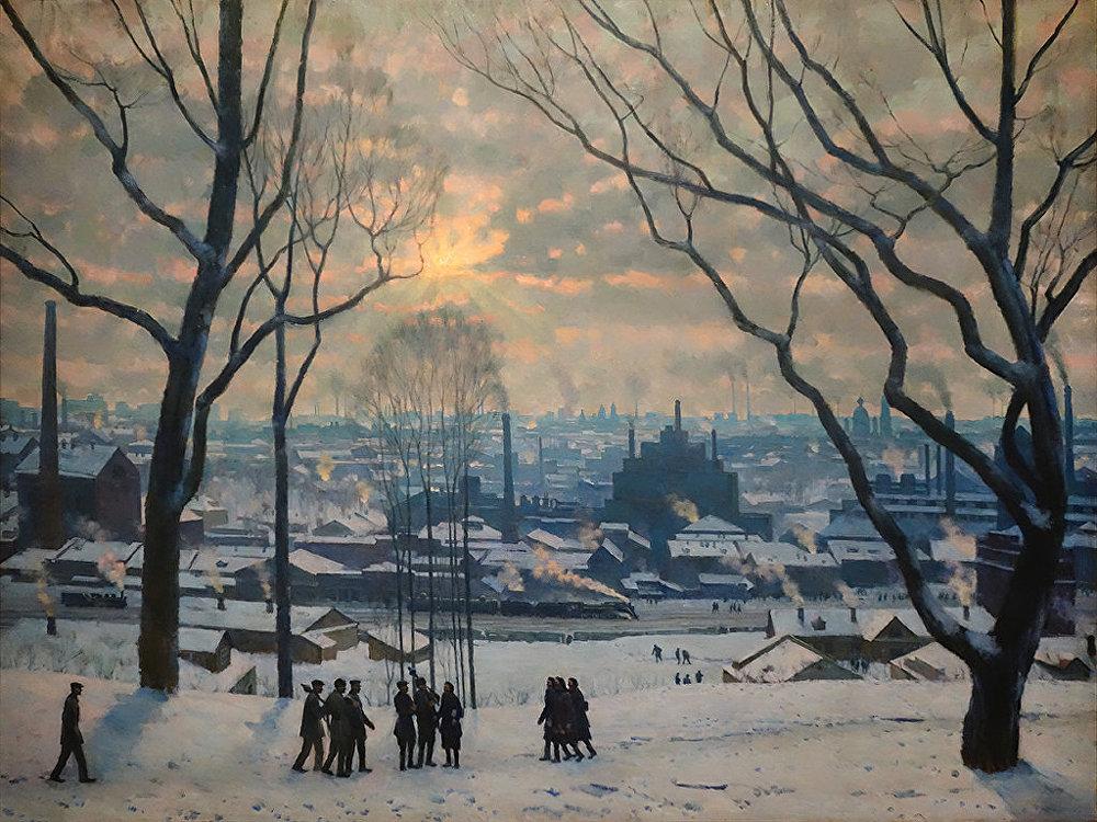 Constantin Youon. Un matin de Moscou l'industrielle. 1949