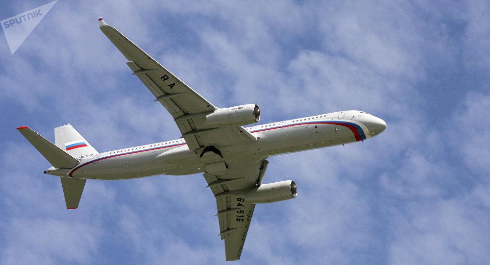 Un avion Tupolev Tu-214 utilisé par le Président russe