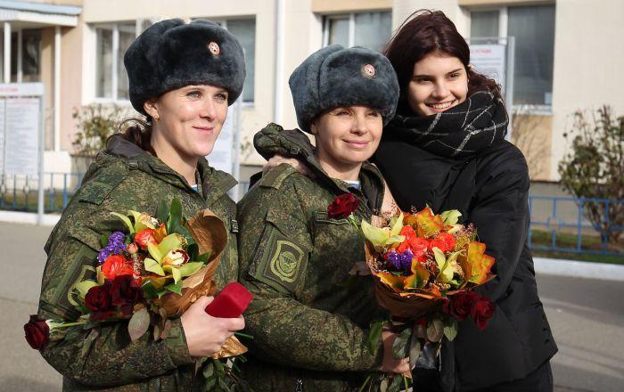 Retour de Syrie d'un détachement médical spécial russe