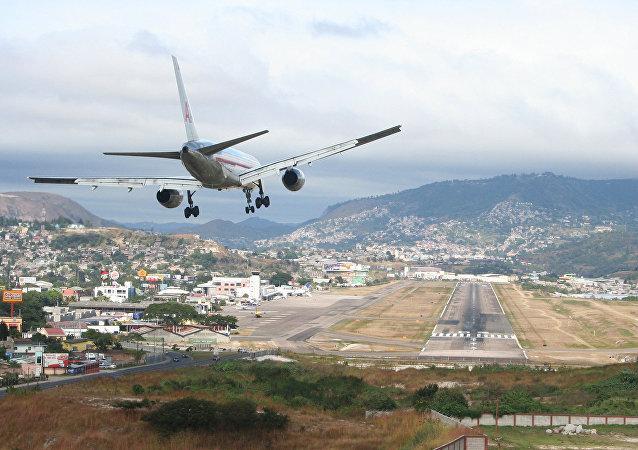 Aeropuerto de Toncontín en Tegucigalpa, Honduras