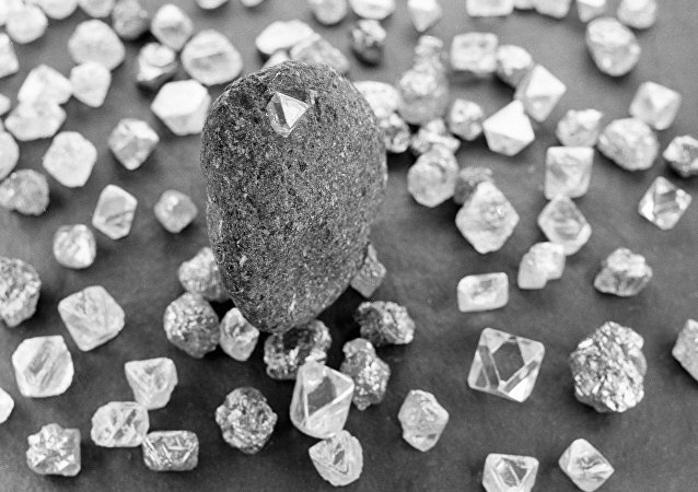 Diamants extraits en Iakoutie