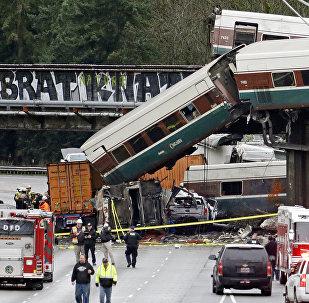 Accident de train aux États-Unis