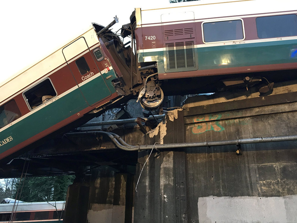 Accident de train aux États-Unis