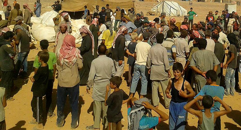 Les réfugiés du camp syrien d'al-Roukban (image d'archive)