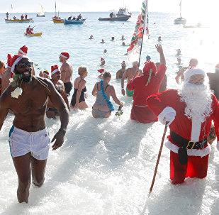Baignade de Noël à Nice