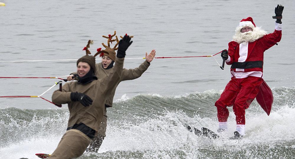 Spectacle de Noël en ski nautique