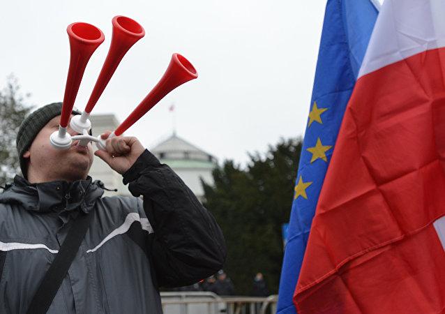Manifestaton à Varsovie. Archive photo