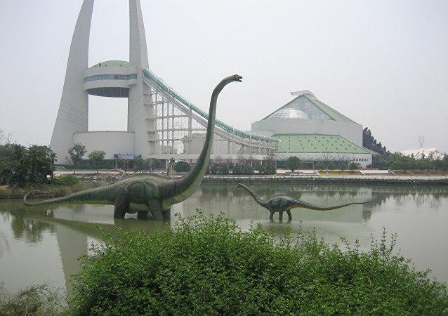 Dans la ville de Zhengzhou, on peut même chasser des dinosaures