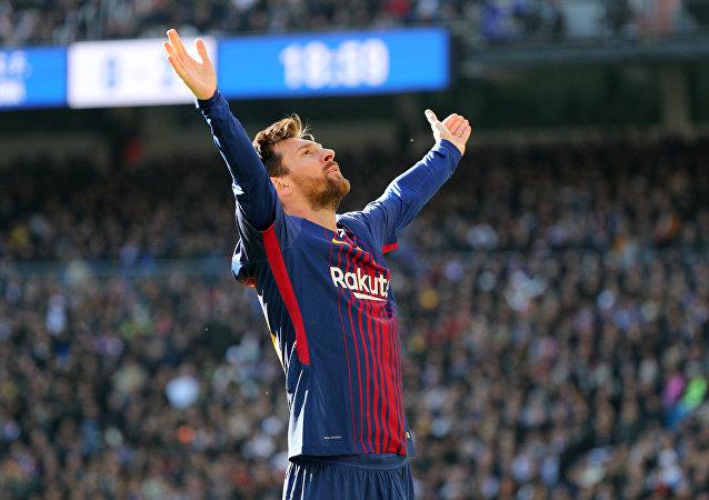 Lionel Messi, après son but face au Real Madrid