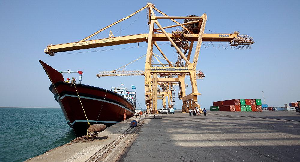 Le port de Hodeida, au Yémen