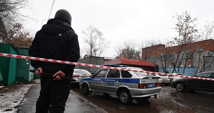 La rue Ilovaïskaïa bouclée en raison de la fusillade