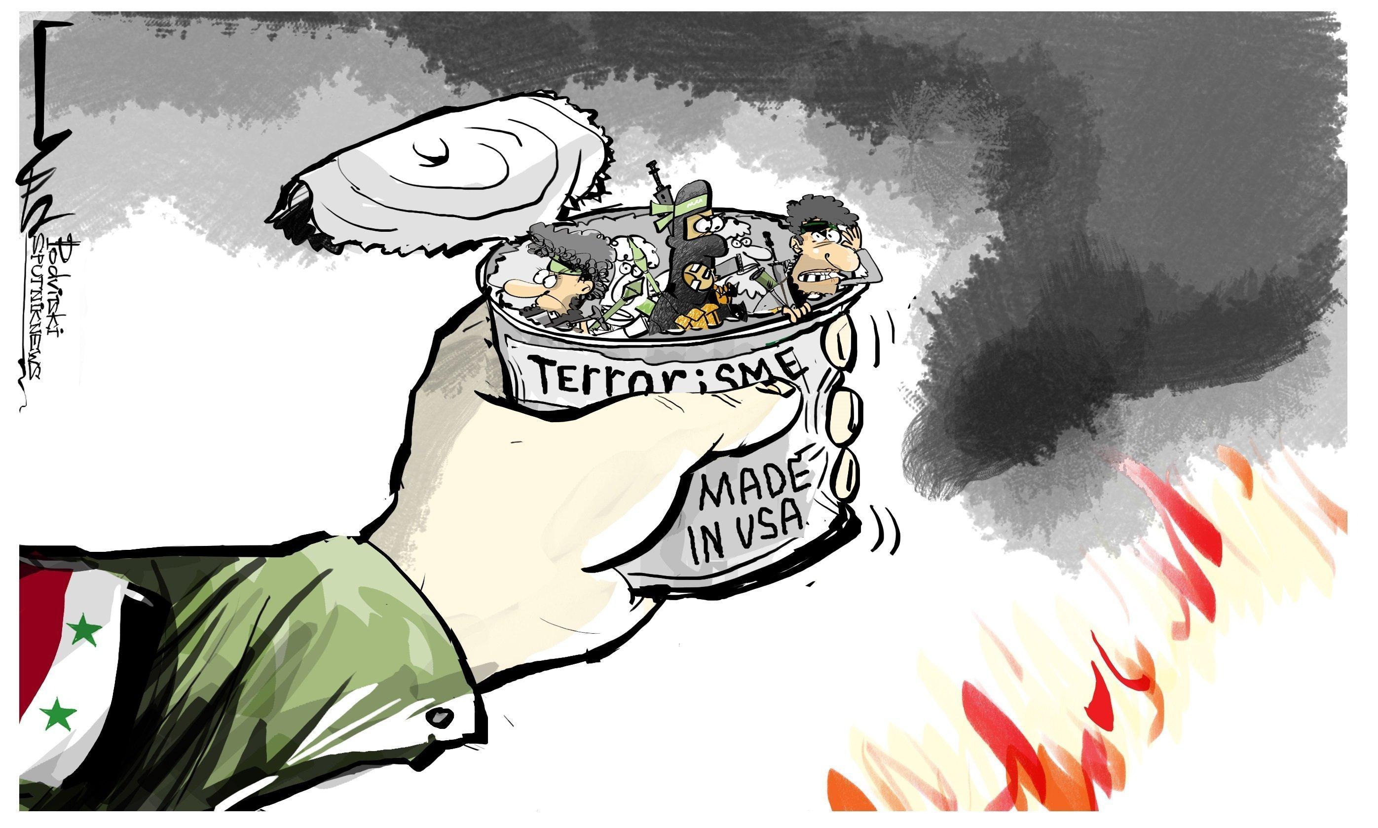 Des terroristes s'entraînent sur une base US en Syrie