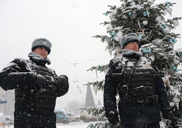 Police à Moscou