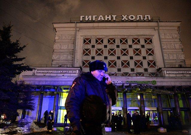 La police sur les lieux de l'explosion à Saint-Pétersbourg