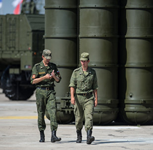 Missiles sol-air S-300 russes. Photo d'archive
