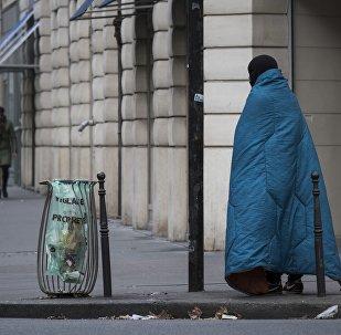 Un SDF à Paris