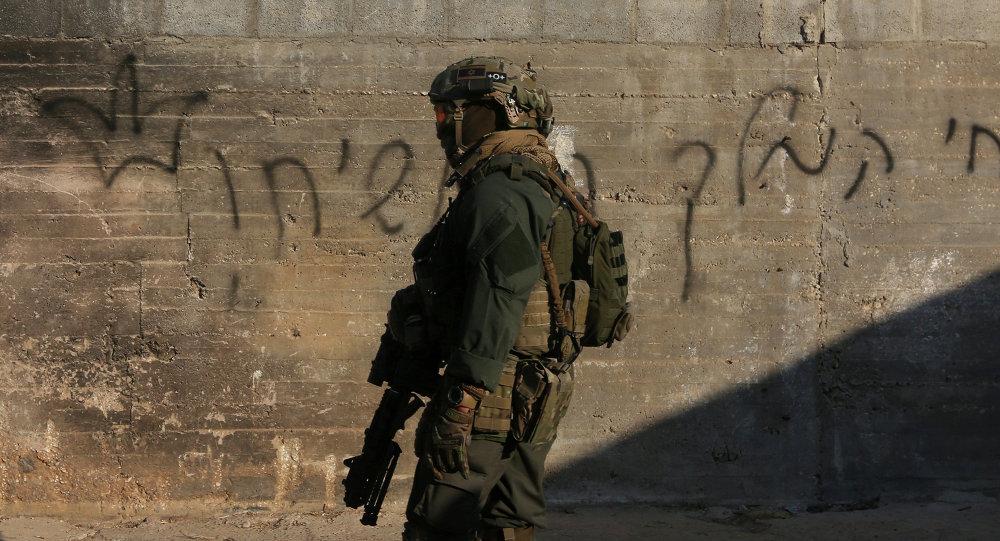 Un militaire israélien en Cisjordanie