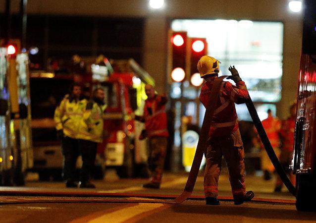 Incendie d'un immeuble à Manchester