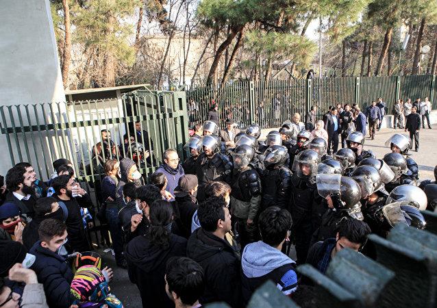 Iran,  protestation