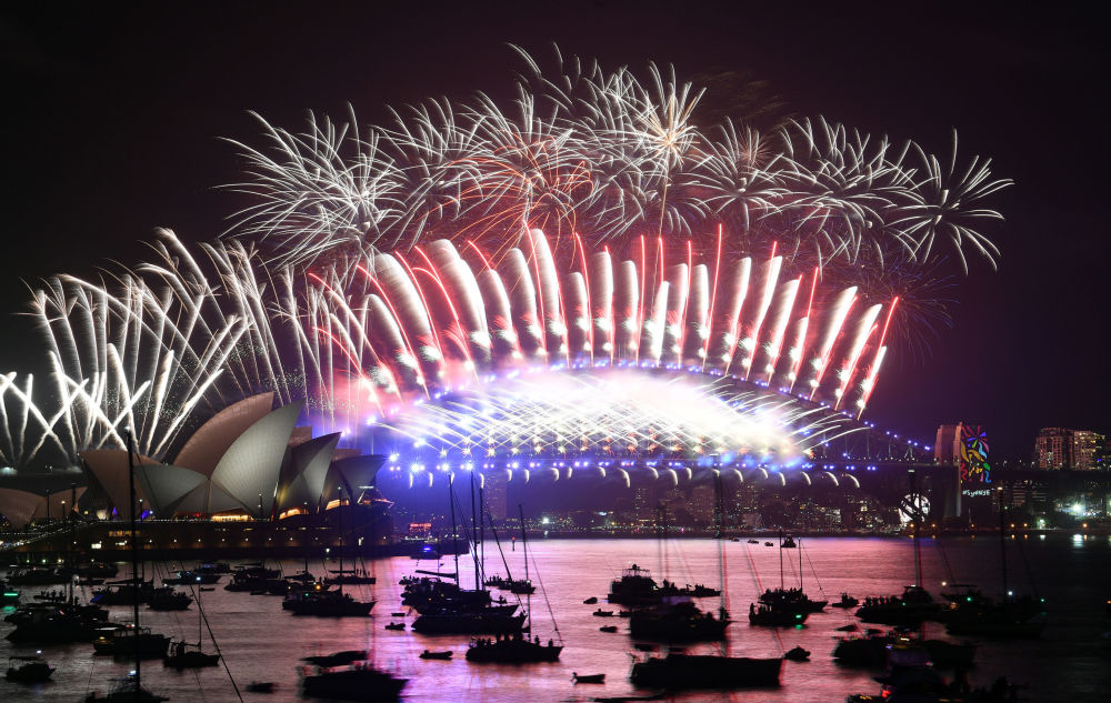 Feux d'artifice du Nouvel An en Australie