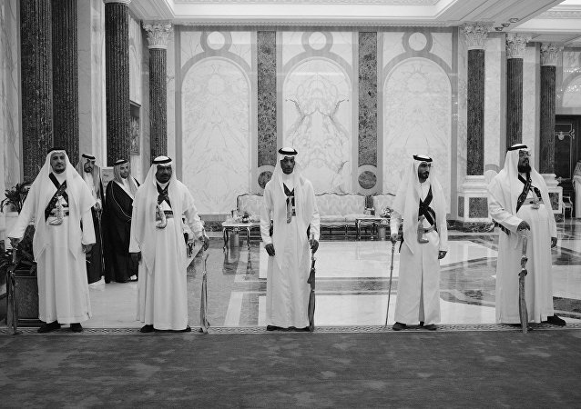 Dans le palais royal de Riyad. Photo d'archive
