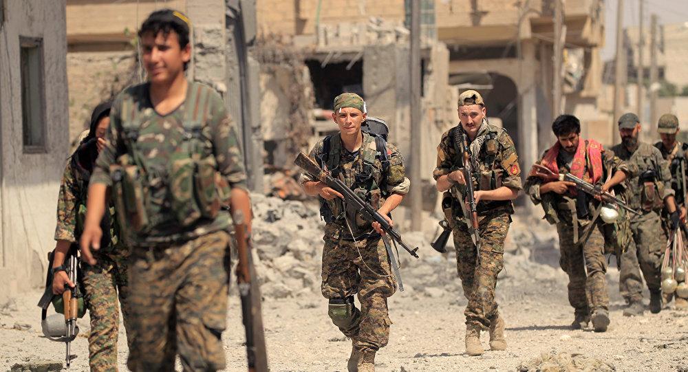 Les combattants des Forces démocratiques syriennes (FDS)