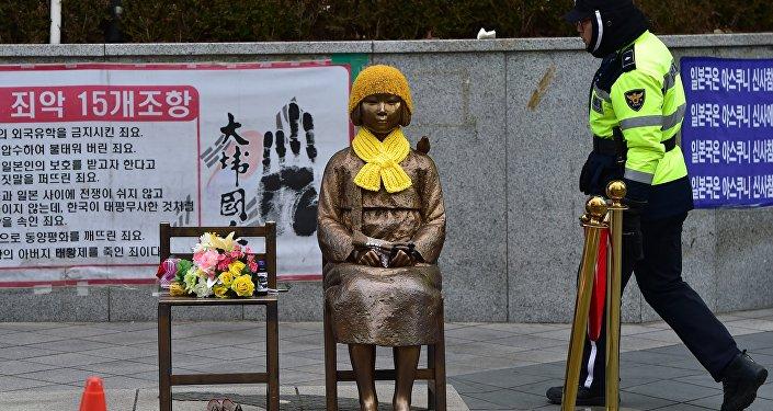 Statue d'hommage aux femmes de réconfort à Séoul