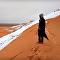 Les dunes du Sahara se sont transformées en pentes enneigées!