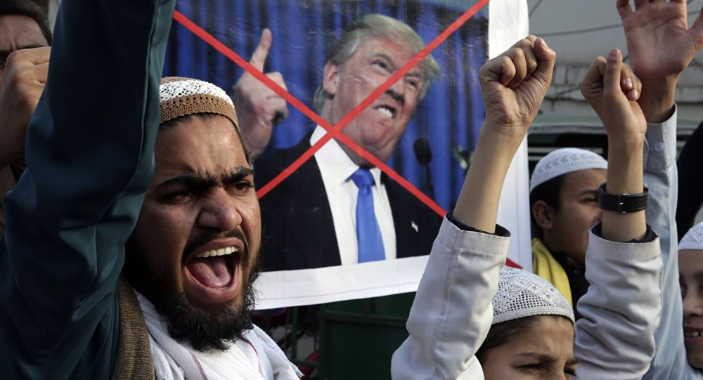 Manif anti-Trump au Pakistan