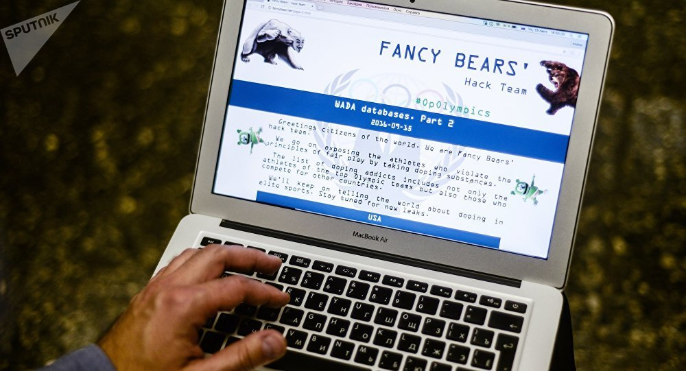 Le site du groupe des cyberpirates Fancy Bears