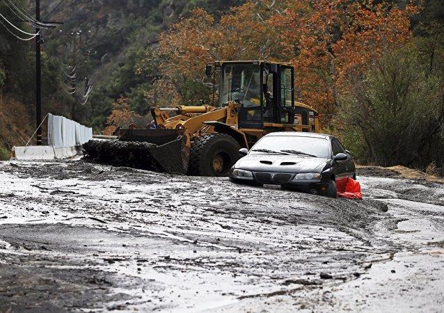 Une coulée de boue en Californie
