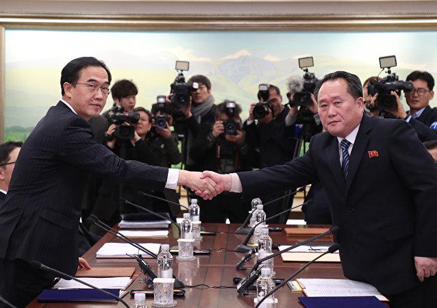 Une rencontre intercoréenne à Panmunjom