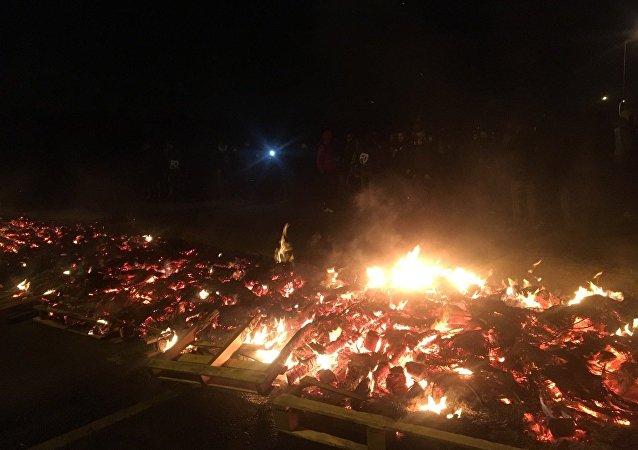 blocage de Fleury-Mérogis après l'agression des surveillants de Vendin-Le-Vieil