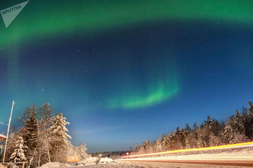 Danses des lumières venues du ciel: aurores boréales à Zapoliarié