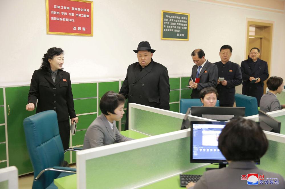 Kim Jong-un à l'Institut pédagogique de Pyongyang