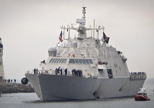 L'arrivée de l'USS Little Rock à Buffalo le 4 décembre 2017