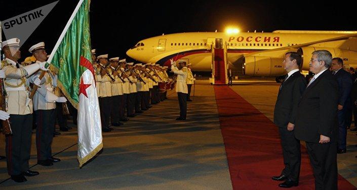 La visite officielle du Premier ministre russe Dmitri Medvedev en Algérie. Photo d'archive
