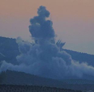 Explosion près d'Afrine, en Syrie