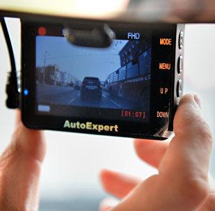 Une caméra de tableau de bord