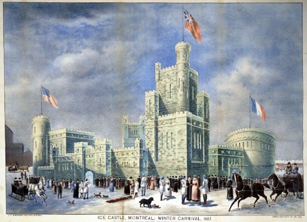 Palais de glace, Carnaval d'hiver de Montréal, 1887