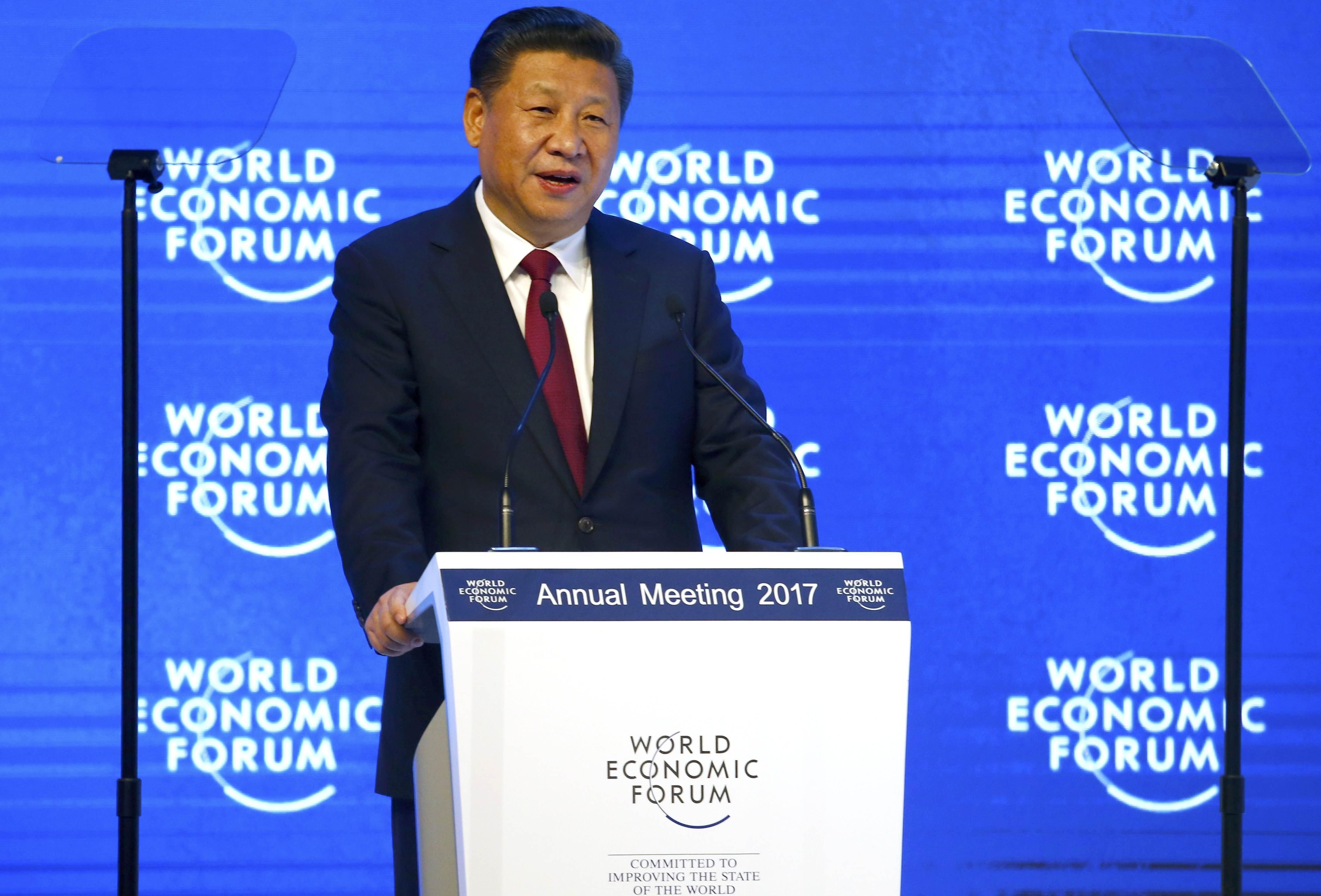 Xi Jinping au Forum de Davos 2017